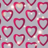 Valentines day. Abstract paper hearts. Love. Valentine background with hearts.  Royalty Free Stock Photos