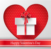 Valentines day. Abstract paper hearts Stock Photos