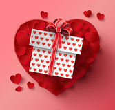 Valentines day. Abstract paper hearts Royalty Free Stock Photography