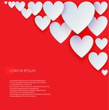 Valentines Day abstract vector background. Royalty Free Stock Photography