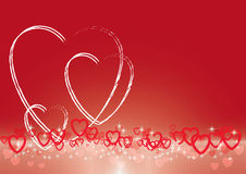 Valentines Day abstract vector background Royalty Free Stock Photography
