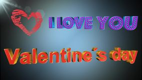 Valentines day, animation. Valentines day, best Valentines day, animation stock footage