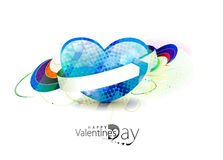 Valentines day background. Abstract valentines day 3d heart background design element Stock Photo