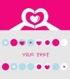 Valentines day background. Illustration of abstract Valentines day background with copy space Royalty Free Stock Photo