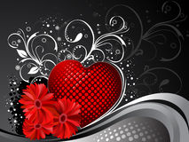 Valentines Day background. Vector illustration Stock Photo