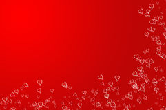 Valentines Day background. Frame, red with Hearts Royalty Free Stock Image