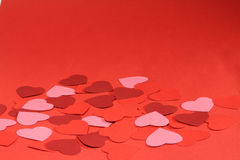 Valentines day background. With many paper hearts Royalty Free Stock Photos