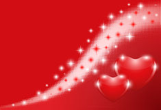 Valentines day background. Red background with hearts, halftone, EPS 10 with transparency Royalty Free Stock Photos