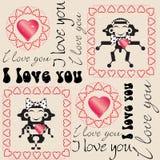 Valentines Day background stock illustration