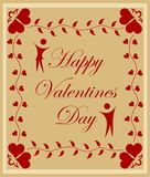 Valentines day background. Happy valentines day card with designs Vector Illustration