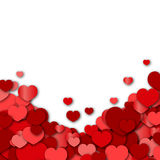 Valentines Day Background. With red hearts Stock Image