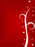 Valentines day background. Red Valentines day background with copyspace room Stock Image