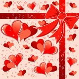 Valentines Day background. With Hearts, element for design, vector illustration Royalty Free Stock Photography
