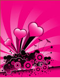 Valentines Day background. An pink valentines background with abstract design with hearts Stock Photography