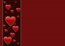 Valentines day background. Editable vector Valentines day background Royalty Free Stock Photo