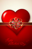 Valentines day background with abstract heart and bow Stock Image