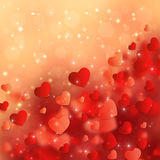 Valentines Day Background. Valentines Day Background with Abstract Hearts Royalty Free Stock Photography