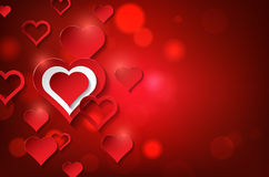Valentines day background with abstract hearts Stock Photo