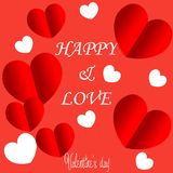Valentines day background with balloons heart pattern. royalty free illustration
