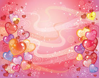 Valentines day Background with balloons Royalty Free Stock Images
