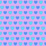 Valentines day.background with blue hearts. Seamless pattern. Vector Royalty Free Stock Image