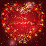 Valentines day background with bright lights. Valentines day background with red bright lights vector illustration