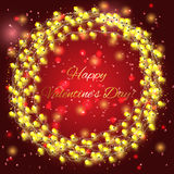 Valentines day background with bright lights. Valentines day background with yellow bright lights royalty free illustration