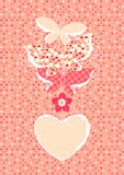 Valentines Day background with butterflies Stock Image