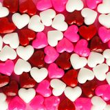 Valentines Day background of candy hearts Stock Image
