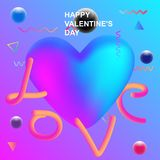 Valentines day background. card Valentine`s day abstract backgro Stock Photography