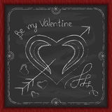Valentines Day background chalk on a blackboard Stock Photo