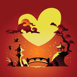 Valentines Day Background with Chines Background Stock Photos