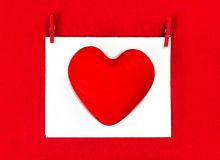 Valentines Day background with copyspace for greeting text. Red Stock Photos