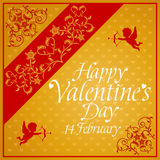 Valentines day background with Cupid Royalty Free Stock Photos