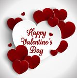 Valentines day background with cut paper heart Stock Image