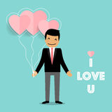 Valentines day background design. Vector illustration.  Stock Photography