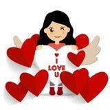 Valentines day background design. Vector illustration.  Stock Images