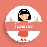 Valentines day background design. Vector illustration.  Stock Photos