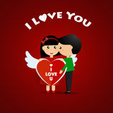 Valentines day background design. Vector illustration.  Royalty Free Stock Photo
