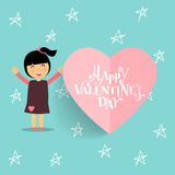 Valentines day background design. Vector illustration.  Royalty Free Stock Photography