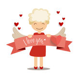 Valentines day background design. Vector illustration.  Royalty Free Stock Image