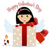 Valentines day background design. Vector illustration Royalty Free Stock Images
