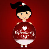 Valentines day background design. Vector illustration Stock Photography
