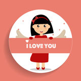 Valentines day background design. Vector illustration Royalty Free Stock Photos
