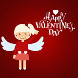 Valentines day background design. Vector illustration.  Royalty Free Stock Images