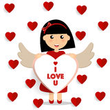 Valentines day background design. Vector illustration Stock Images