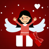 Valentines day background design. Vector illustration Stock Photo