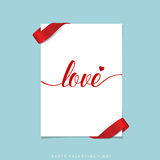 Valentines day background design. Vector illustration Royalty Free Stock Photography