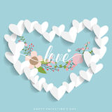 Valentines day background design. Vector illustration Royalty Free Stock Image
