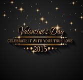 Valentines Day background for dinner invitations Stock Images